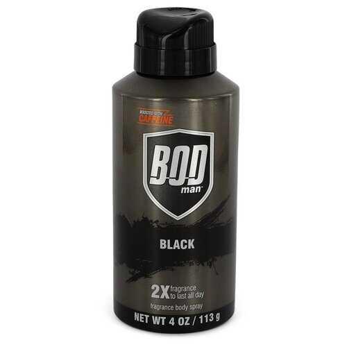 Bod Man Black by Parfums De Coeur Body Spray 4 oz (Men)