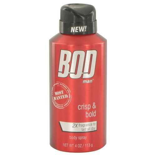 Bod Man Most Wanted by Parfums De Coeur Fragrance Body Spray 4 oz (Men)