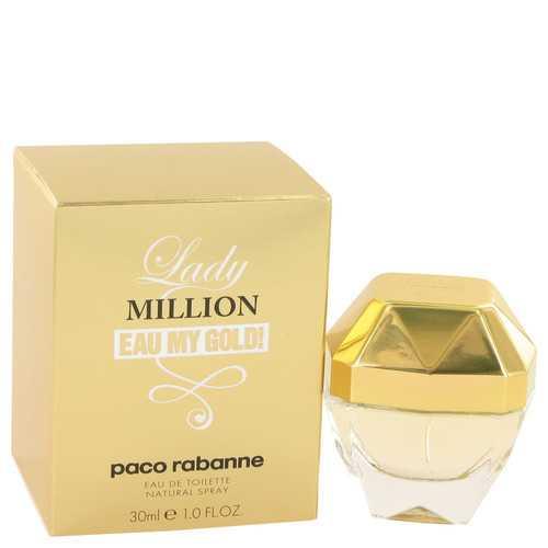 Lady Million Eau My Gold by Paco Rabanne Eau De Toilette Spray 1 oz (Women)