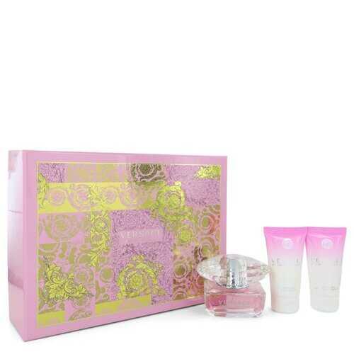 Bright Crystal by Versace Gift Set -- 1.7 oz Eau De Toilette Spray + 1.7 oz Body Lotion + 1.7 oz Shower Gel (Women)