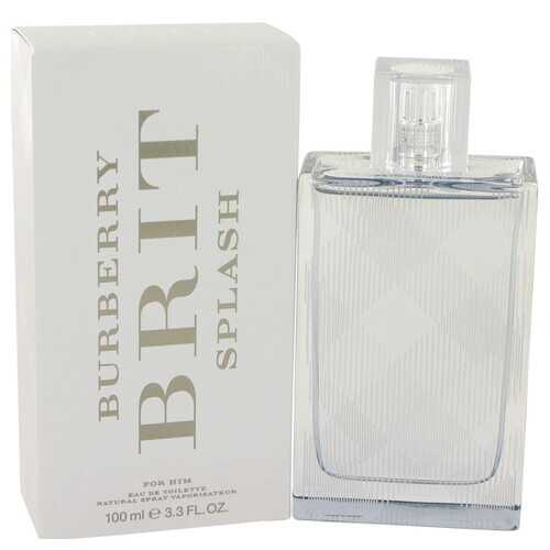 Burberry Brit Splash by Burberry Eau De Toilette Spray 3.4 oz (Men)