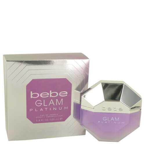 Bebe Glam Platinum by Bebe Eau De Parfum Spray 3.4 oz (Women)
