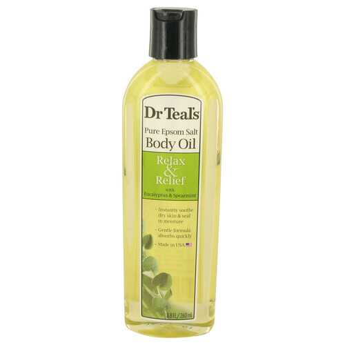 Dr Teal's Bath Additive Eucalyptus Oil by Dr Teal's Pure Epson Salt Body Oil Relax & Relief with Eucalyptus & Spearmint 8.8 oz (Women)
