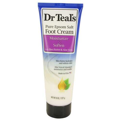 Dr Teal's Pure Epsom Salt Foot Cream by Dr Teal's Pure Epsom Salt Foot Cream with Shea Butter & Aloe Vera & Vitamin E 8 oz (Women)