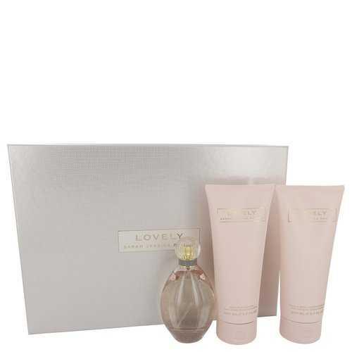 Lovely by Sarah Jessica Parker Gift Set -- 3.4 oz Eau De Parfum Spray + 6.7 oz Body Lotion + 6.7 oz Shower Gel (Women)