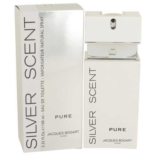 Silver Scent Pure by Jacques Bogart Eau De Toilette Spray 3.4 oz (Men)