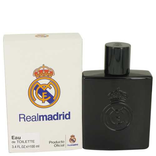 Real Madrid Black by Air Val International Eau De Toilette Spray 3.4 oz (Men)