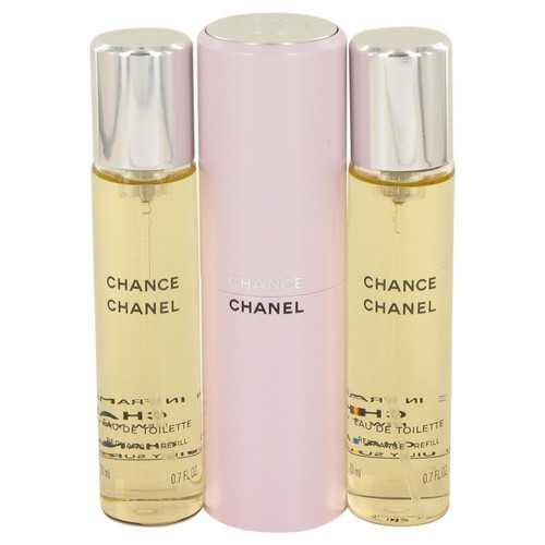 Chance by Chanel Mini EDT Spray + 2 Refills 3 x.7 oz (Women)
