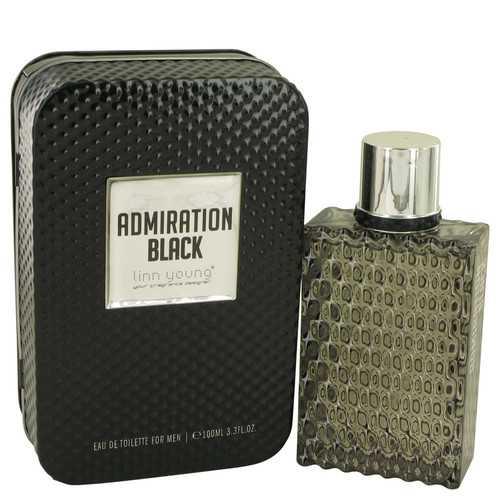 Admiration Black by Linn Young Eau De Toilette Spray 3.3 oz (Men)