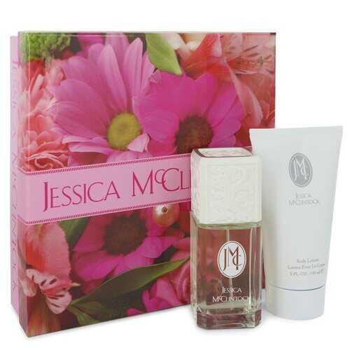 JESSICA Mc CLINTOCK by Jessica McClintock Gift Set -- 3.4 oz Eau De Parfum Spray + 5 oz Body Lotion (Women)