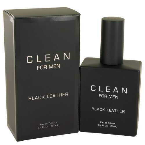 Clean Black Leather by Clean Eau De Toilette Spray 3.4 oz (Men)