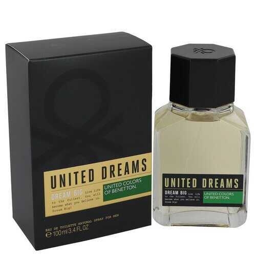 United Dreams Dream Big by Benetton Eau De Toilette Spray 3.4 oz (Men)