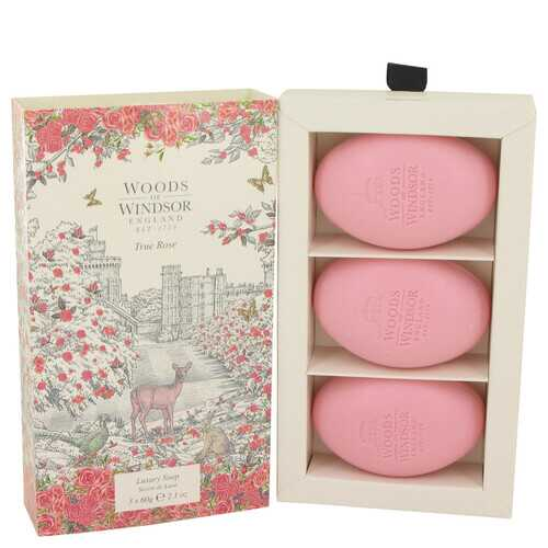 True Rose by Woods of Windsor Three 2.1 oz Luxury Soaps 2.1 oz (Women)