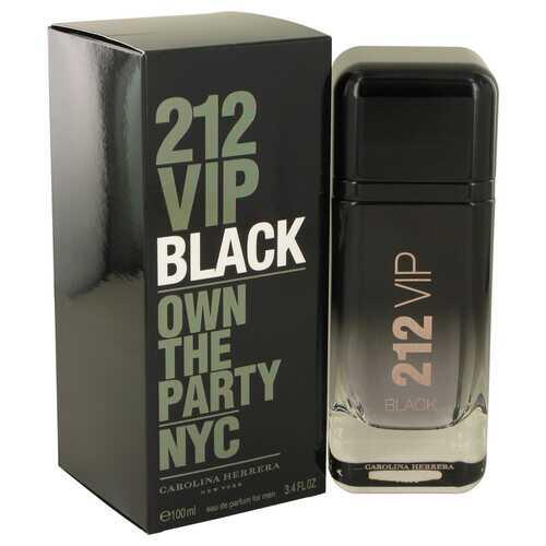 212 VIP Black by Carolina Herrera Eau De Parfum Spray 3.4 oz (Men)