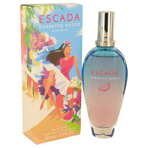Escada Sorbetto Rosso by Escada Eau De Toilette Spray 3.3 oz (Women)