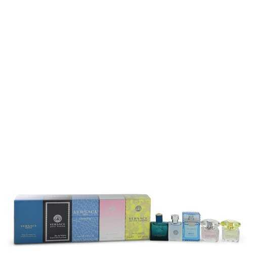 Bright Crystal by Versace Gift Set -- The Best of Versace Men's and Women's Miniatures Collection Includes Versace Eros Versace Pour Homme Versace Man Eau Fraiche Bright Crystal and Versace Yellow Diamond (Women)