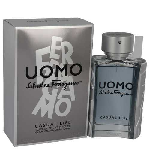 Salvatore Ferragamo Uomo Casual Life by Salvatore Ferragamo Eau De Toilette Spray 3.4 oz (Men)