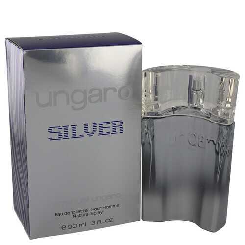 Ungaro Silver by Ungaro Eau De Toilette Spray 3 oz (Men)