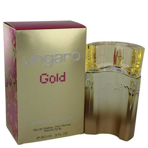 Ungaro Gold by Ungaro Eau De Toilette Spray 3 oz (Women)
