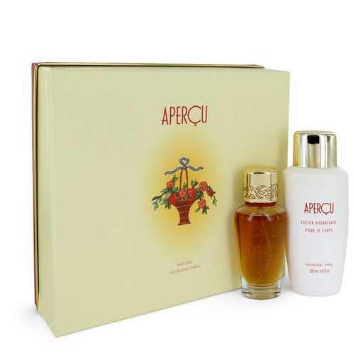 APERCU by Houbigant Gift Set -- 1.7 oz Eau De Toilette Spray + 6.7 oz Body Lotion (Women)