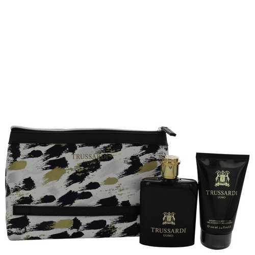 TRUSSARDI by Trussardi Gift Set -- 3.4 oz Eau De Toilette Spray + 3.4 oz Shower Gel + Trusssardi Pouch (Men)