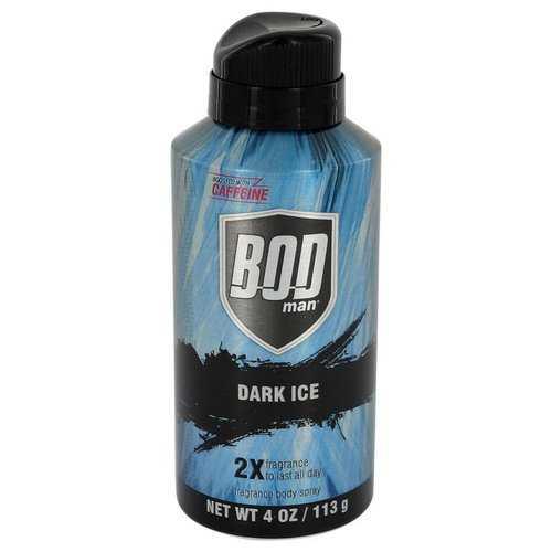 Bod Man Dark Ice by Parfums De Coeur Body Spray 4 oz (Men)