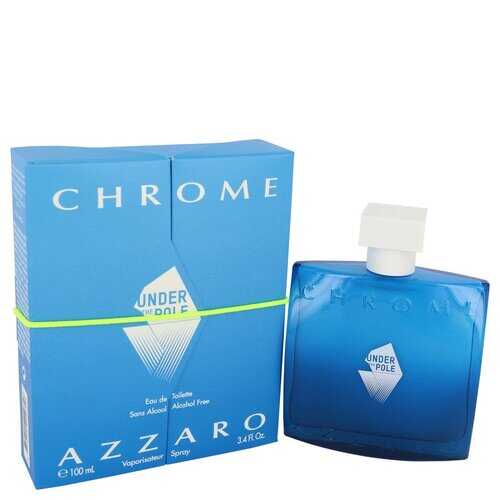 Chrome Under The Pole by Azzaro Eau De Toilette Spray (Alcohol Free) 3.4 oz (Men)
