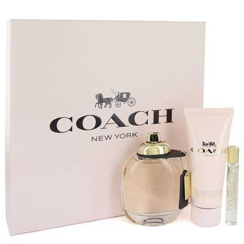 Coach by Coach Gift Set -- 3 oz Eau De Parfum Spray + .25 oz Mini EDP Spray + 3.3 oz Body Lotion (Women)