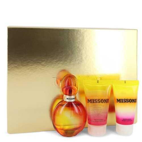 Missoni by Missoni Gift Set -- 1.7 oz Eau De Toilette Spray + 1.7 oz Body Lotion + 1.7 oz Shower Gel (Women)