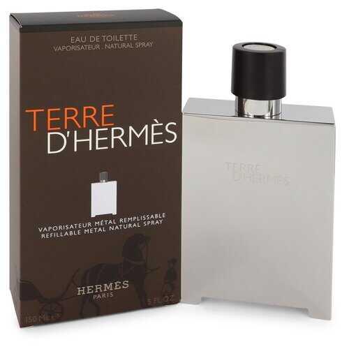 Terre D'Hermes by Hermes Eau De Toilette Spray Refillable (Metal) 5 oz (Men)