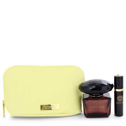 Crystal Noir by Versace Gift Set -- 3 oz Eau De Toilette Spray + 0.3 oz Mini EDT Spray In Versace Pouch (Women)