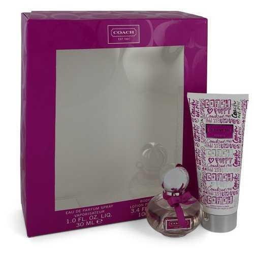 Coach Poppy Flower by Coach Gift Set -- 1 oz eau De Parfum Spray + 3.4 oz Body Lotion (Women)