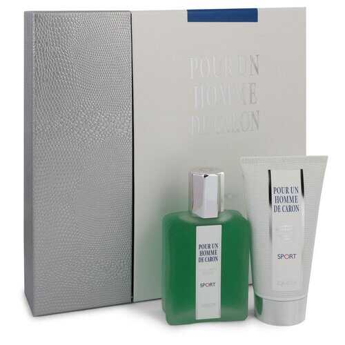 Caron Pour Homme Sport by Caron Gift Set -- 2.5 oz Eau DE Toilette Spray + 2.5 oz Shower Gel (Men)
