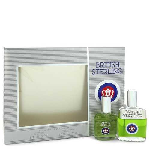 BRITISH STERLING by Dana Gift Set -- 1 oz Cologne Spray + 2.5 oz After Shave (Men)