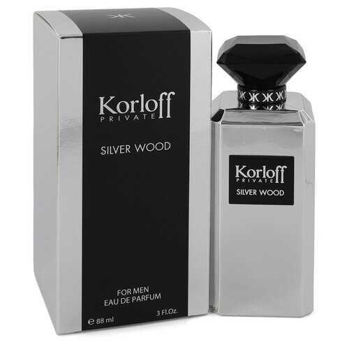 Korloff Silver Wood by Korloff Eau De Parfum Spray 3 oz (Men)