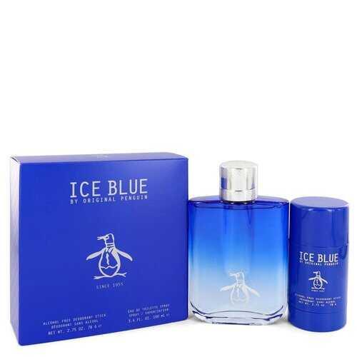 Original Penguin Ice Blue by Original Penguin Gift Set -- 3.4 oz Eau De Toilette Spray + 2.75 oz Deodorant Stick (Men)