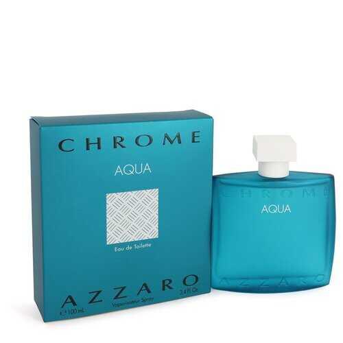 Chrome Aqua by Azzaro Eau De Toilette Spray 3.4 oz (Men)