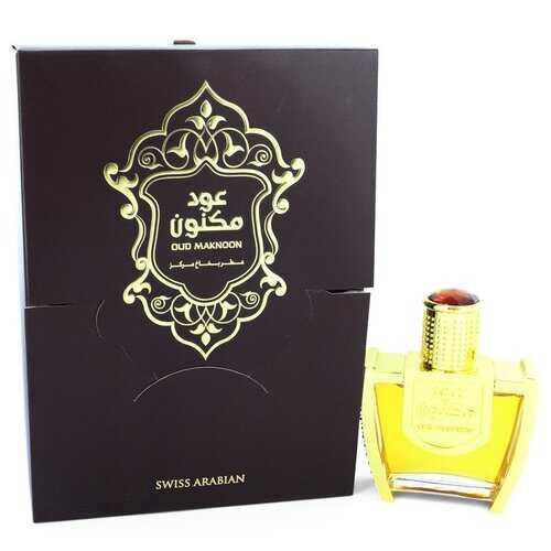 Oud Maknoon by Swiss Arabian Eau De Parfum Spray (Unisex) 3.4 oz (Women)