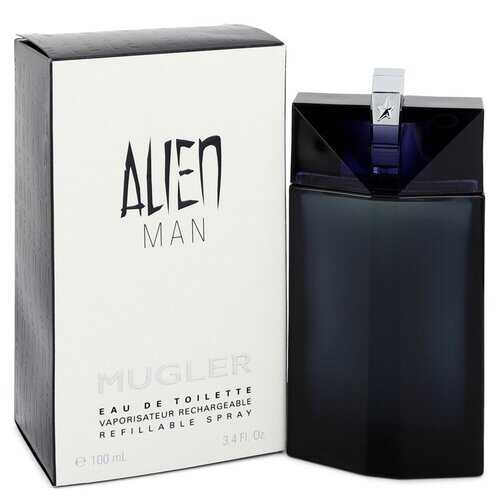 Alien Man by Thierry Mugler Eau De Toilette Refillable Spray 3.4 oz (Men)