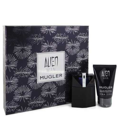 Alien Man by Thierry Mugler Gift Set -- 1.7 oz Eau De Toilette Spray Refillable 1.7 oz Hair & Body Shampoo (Men)