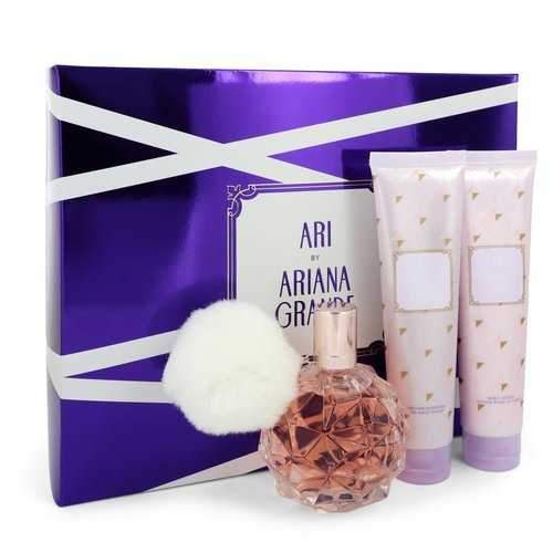 Ari by Ariana Grande Gift Set -- 3.4 oz Eau De Parfum Spray + 3.4 oz Body Lotion + 3.4 oz Shower Gel (Women)