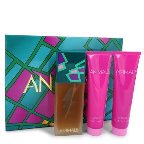 ANIMALE by Animale Gift Set -- 3.4 oz Eau De Parfum Spray + 3.4 oz Shower Gel + 3.4 oz Body Lotion (Women)