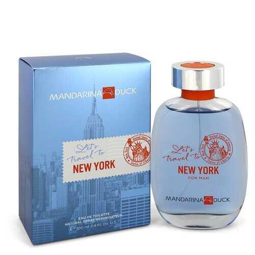 Mandarina Duck Let's Travel to New York by Mandarina Duck Eau De Toilette Spray 3.4 oz (Men)