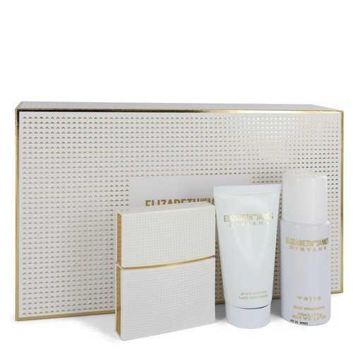 Nirvana White by Elizabeth and James Gift Set -- 1 oz Eau De Parfum Spray + 1.7 oz Body Lotion + 1.3 oz Dry Shampoo (Women)
