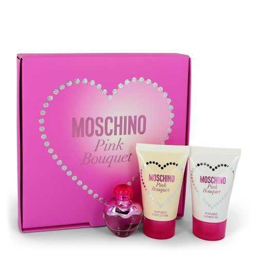 Moschino Pink Bouquet by Moschino Gift Set -- .17 oz Mini EDT + 0.8 oz Body Lotion + 0.8 oz Shower Gel (Women)