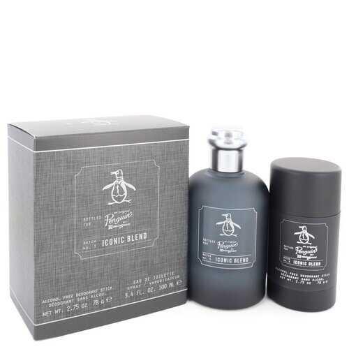 Original Penguin Iconic Blend by Original Penguin Gift Set -- 3.4 oz Eau De Toilette Spray + 2.75 oz Deodorant Stick (Men)