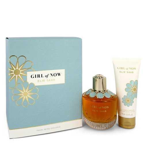 Girl of Now by Elie Saab Gift Set -- 3 oz Eau De Parfum Spray + 2.5 oz Body Lotion (Women)
