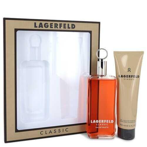 LAGERFELD by Karl Lagerfeld Gift Set -- 5 oz Eau De Toilette pray + 5 oz Shower Gel (Men)
