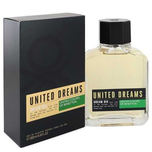 United Dreams Dream Big by Benetton Eau De Toilette Spray 6.8 oz (Men)