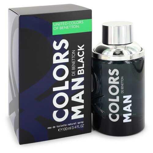 Colors De Benetton Black by Benetton Eau De Toilette Spray 3.4 oz (Men)